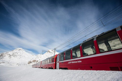 Bernina Express in Winter