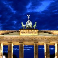 Brandenburg Gate at night Berlin