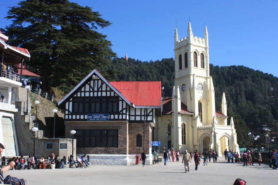 Christ Church & State Library - Shimla