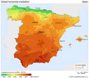 The Average Sunshine Across Spain By Rail