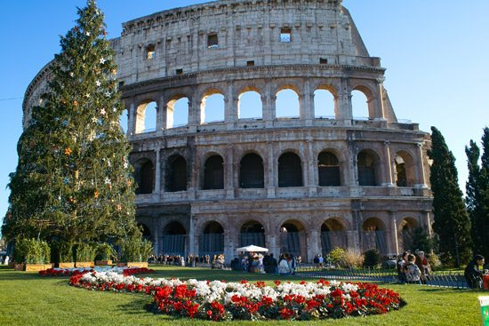 colosseum-rome italy by rail