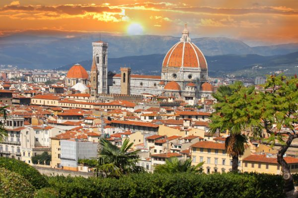 Florence in spring time, Tuscany, Italy by rail