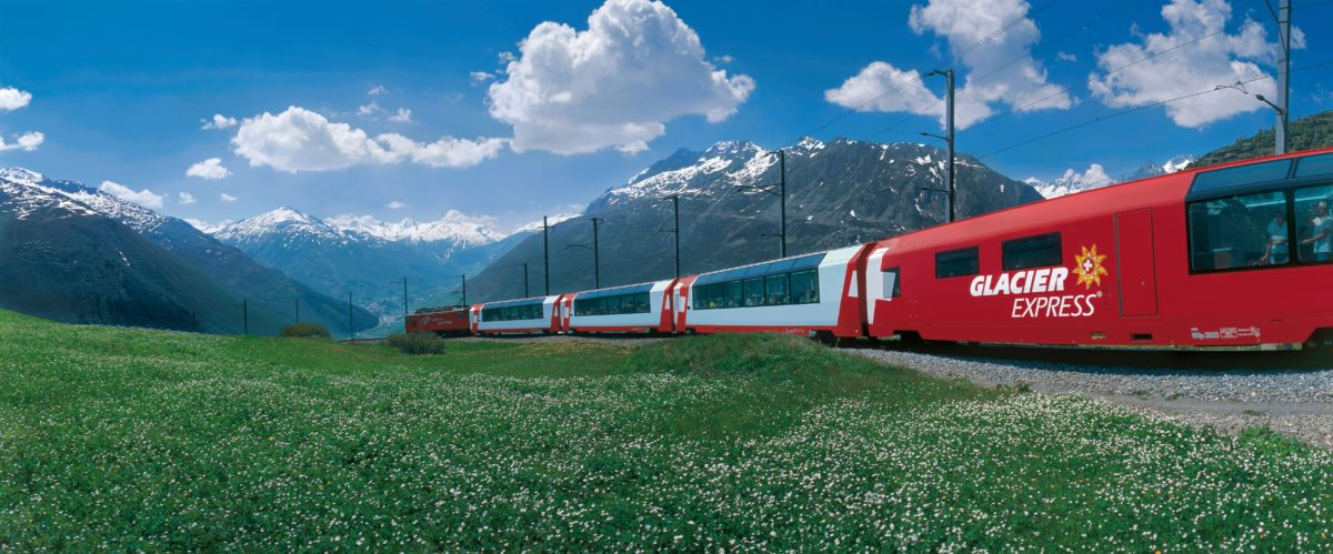 Switzerland. get natural. The Glacier Express at the Oberalp Pass (2044 m) in Central Switzerland. Schweiz. ganz natuerlich. Der Glacier Express am Oberalppass (2044 m) in der Zentralschweiz. Suisse. tout naturellement. Le Glacier Express au col de l'Oberalp (2044 m) en Suisse centrale. Copyright by: Switzerland Tourism By-Line: swiss-image.ch/Christof Sonderegger