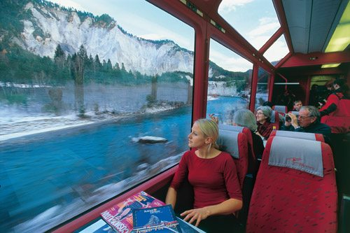 onboard the glacier express