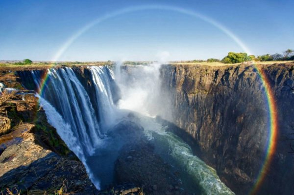 The Victoria Falls, one of the Seven Natural Wonders of the world ...