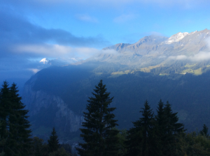 sunrise in wengen